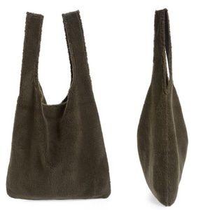 Eileen Fisher Reversible Polyester Fleece Tote Bag
